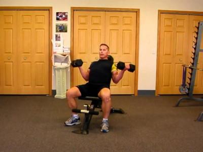 Flexii alternative cu gantere din șezând