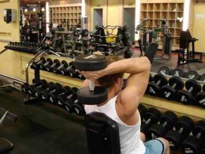 Extensii simultane deasupra capului pentru triceps