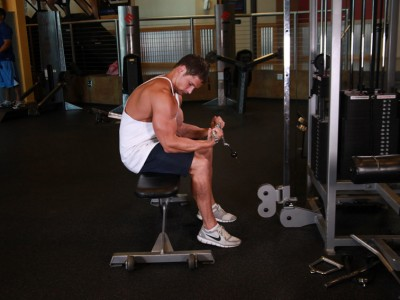 Flexii la cablu pentru mușchii antebrațului