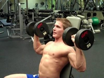 Presă Arnold cu gantere pentru umeri