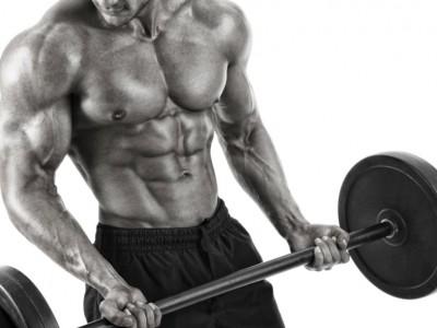 Flexii cu bara pentru biceps cu aducerea coatelor în spate