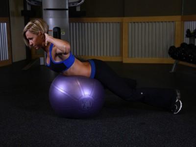 Hiperextensii pe mingea de fitness