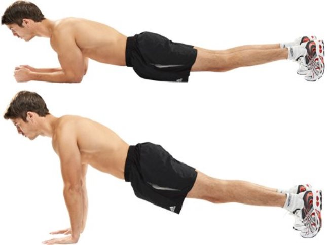 antrenamentul pe intervale plank to push up