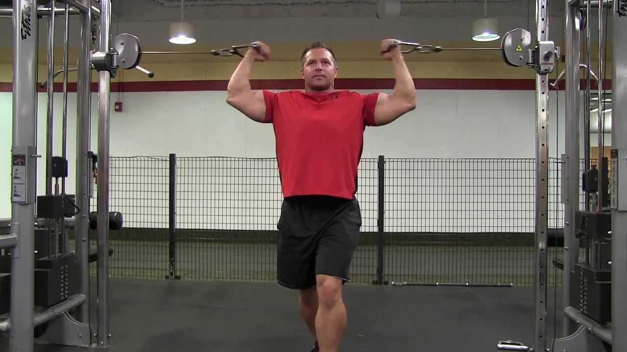 Flexii deasupra capului pentru biceps